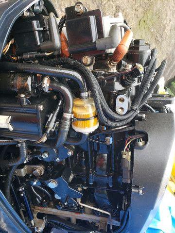 Lancha 19 pés  motor envirude etec 90hp com cerreta rodoviária  - Foto 10