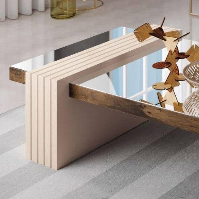 Mesa de Centro Decorativa Espelhada Lara // Entregamos e Montamos  - Foto 2