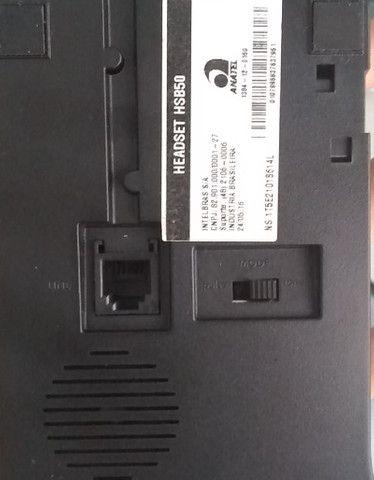 Telefone intelbra headset  - com base discadora hsb - Foto 2