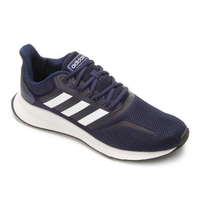 Tênis Adidas Falcon Masculino - Azul e Preto - Original