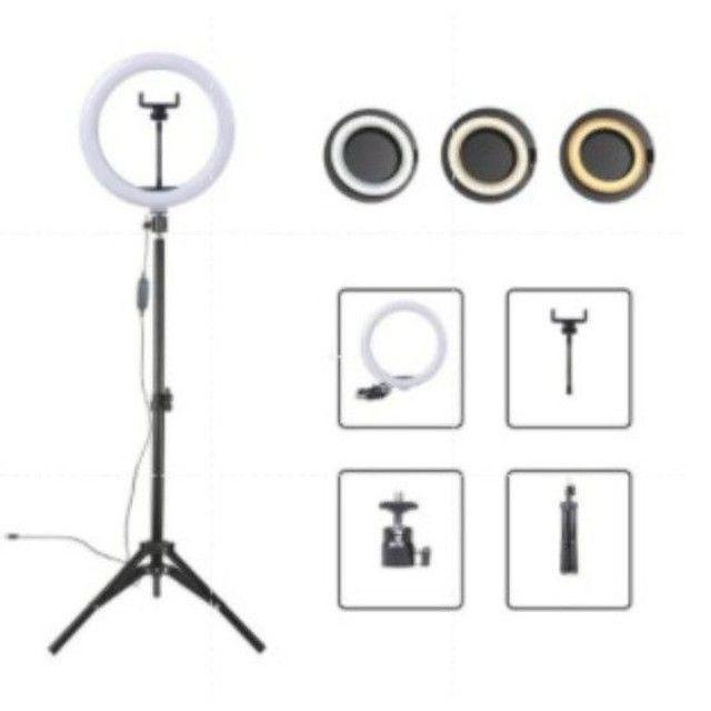 Ringh light 26cm com tripé de 2,1m - Foto 3