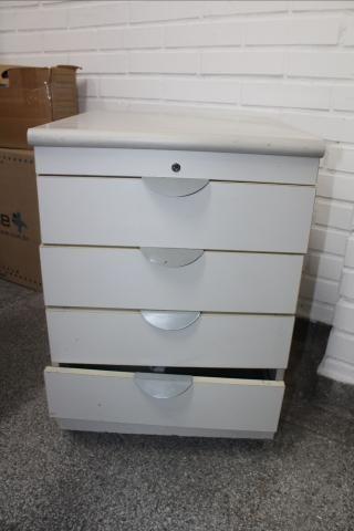 Gaveteiro / Porta Arquivo / 4 gavetas / em MDP Branco 61 cm x  44 cm x  50 cm (LER OBSERV