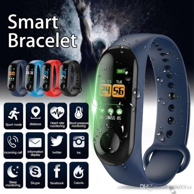 Smartband - Pulseira Inteligente M3 (Monitore Sua Saúde Pelo Seu Relógio) - Foto 2