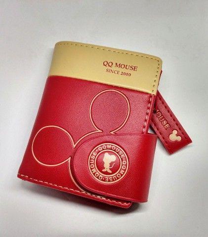 Carteira feminina Mickey mouse linda - Foto 4