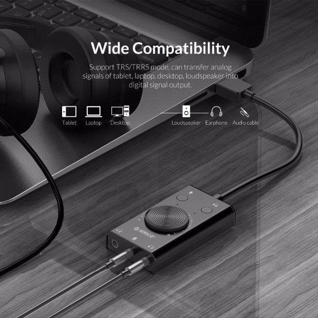 Placa de Som USB Externa Multifunção TOP!!! até 12x no cartão - Foto 5