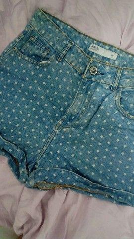 Short Jeans Cintura Alta Estampado