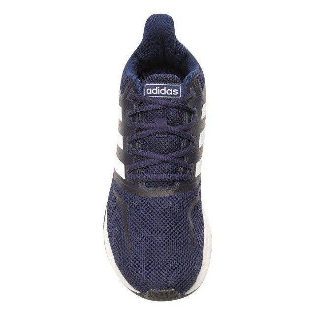 Tênis Adidas Falcon Masculino - Azul e Preto - Original - Foto 3