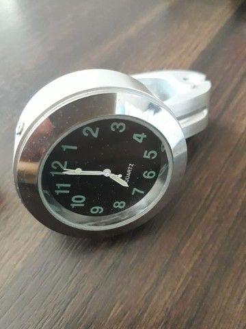 Relógio para Guidão de Moto Custom Shadow Harley Davidson - Foto 3