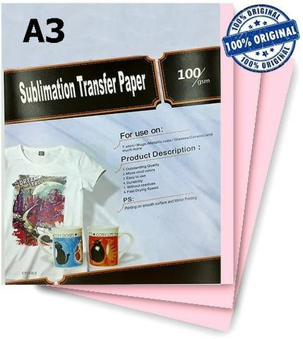 Papel Sublimático Transfer Resinado Fundo Rosa A3 e A4 100 Folhas - Foto 3