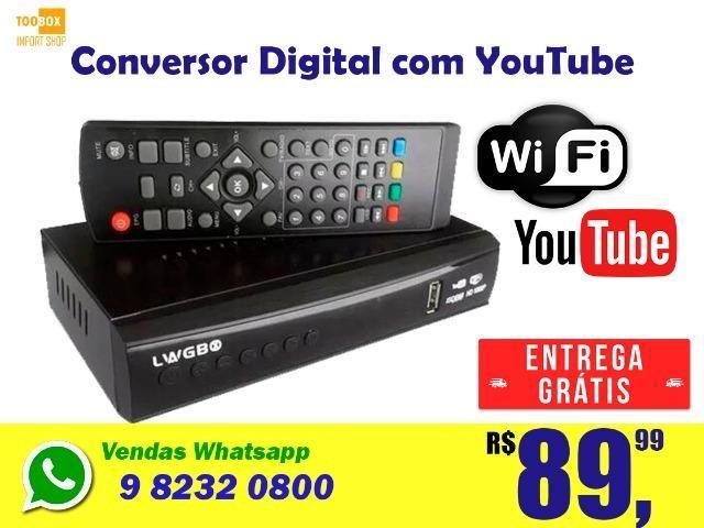 Conversor Digital Wifi com Youtube - Entrega Grátis