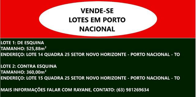 2 terrenos em Porto Nacional