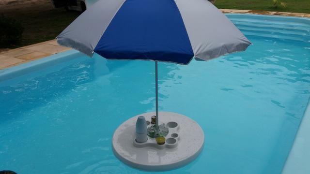 Mesa flutuante com cooler e porta copos para piscina - Foto 2