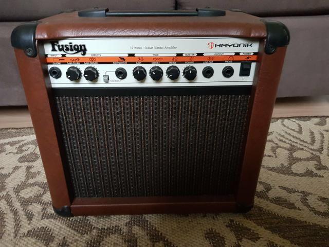 Vendo ou troco Cubo amplificador fusion vintage Hayonik