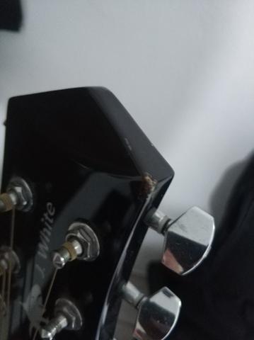 Violão Folk Aço Phx J White - Foto 4