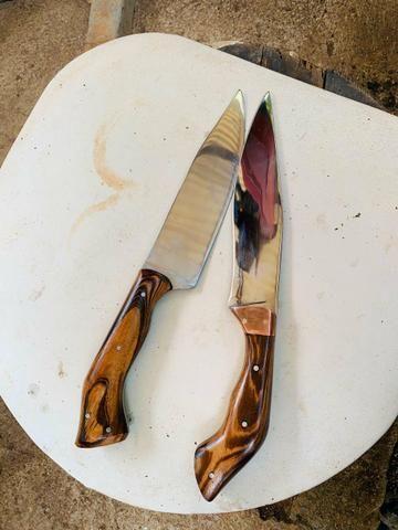 Faca artesanal de caça garantia vitalícia - Foto 4