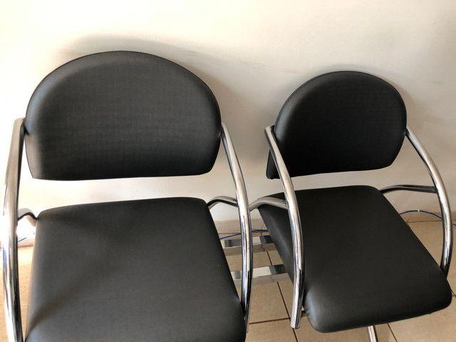 Cadeira escritório longarina - Foto 4