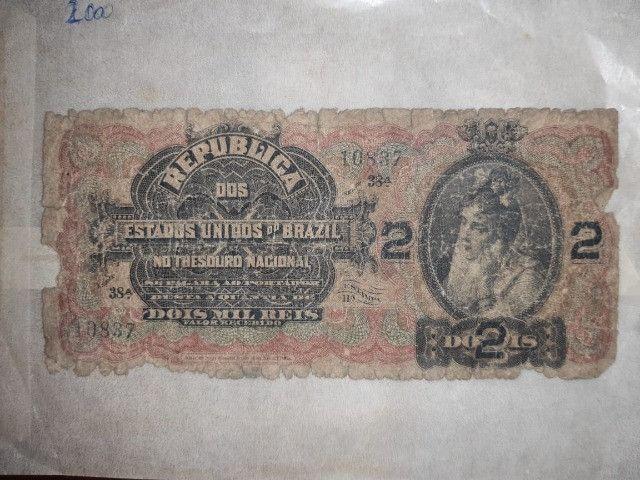 Cédula de 2 mil réis Republica do Brazil
