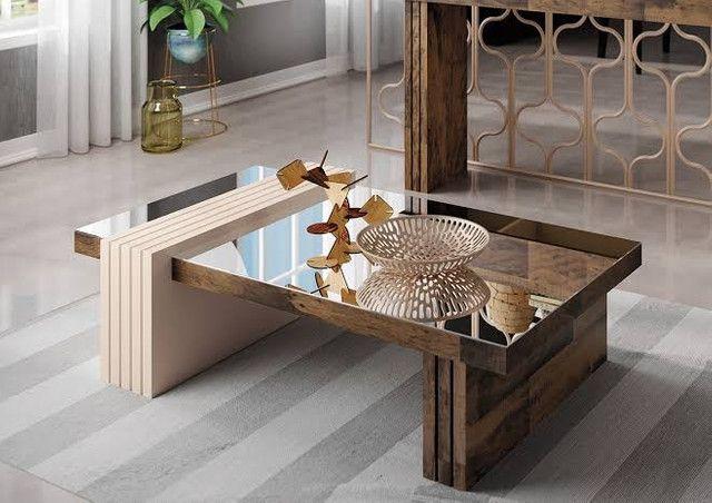 Mesa de Centro Decorativa Espelhada Lara // Entregamos e Montamos  - Foto 3