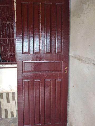Porta de madeira mista