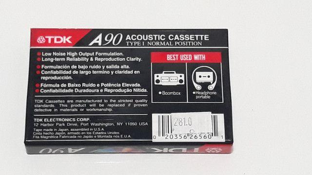 Fita cassete TDK A90 lacrada k7 - Foto 2