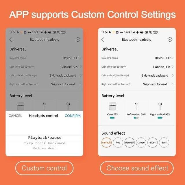 Haylou T19 TWS - Fone Bluetooth 5.0 - aptX - Xiaomi - Android e iOS - Foto 4