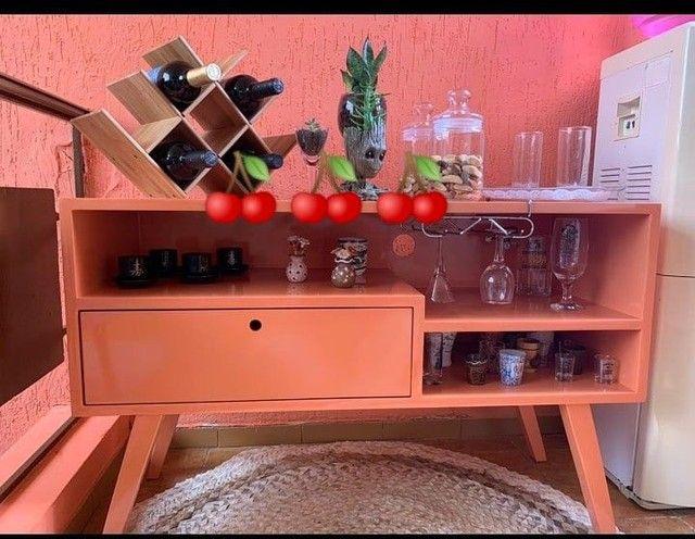 Rack aparador 1x65 estilo retrô SOB ENCOMENDA - Foto 3