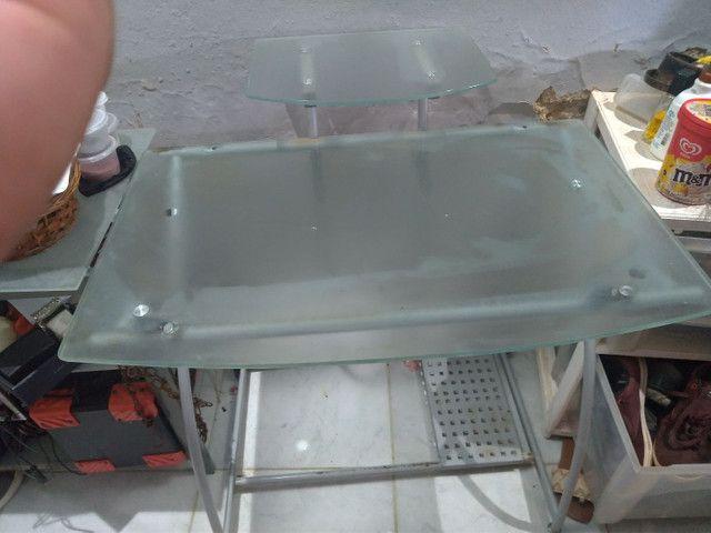 Mesa para computador de vidro - Foto 2