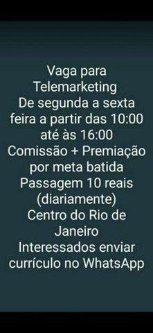 OPORTUNIDADE DE TRABALHO!!!