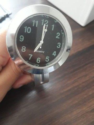 Relógio para Guidão de Moto Custom Shadow Harley Davidson