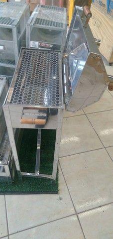 Churrasqueira Portátil aBafo N01  Inox - a Carvão - Foto 3