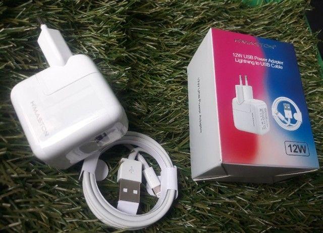 Carregador Fonte + Cabo Lighting iPhone iPad Bivolt 12w Usb - Foto 3