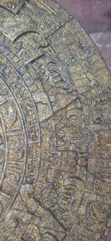 Calendário Asteca Envelhecido - Foto 5