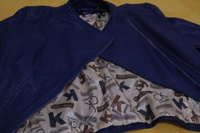 Jaqueta de couro sintético Old school- Tam. M