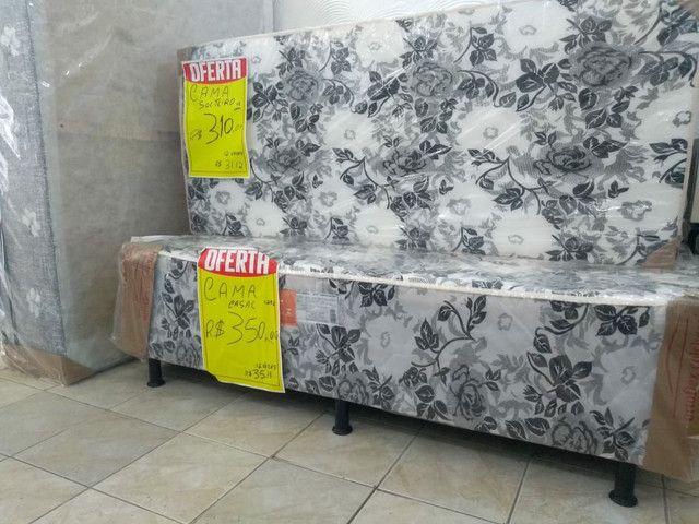 cama casal 290,00 Bicama R$ 280,00  Cama luxo gigante  grandona 450,00   ipitanga - Foto 5