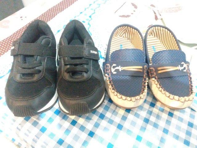 Sapato infantil molequinho + sapato bloompy. tamanho 25 ambos sem marca de uso  - Foto 4
