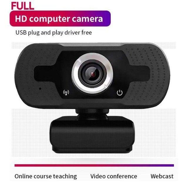 Webcam Microfone Câmera Full Hd 1080p Computador Plug & Play Microfone Embutido - Foto 4