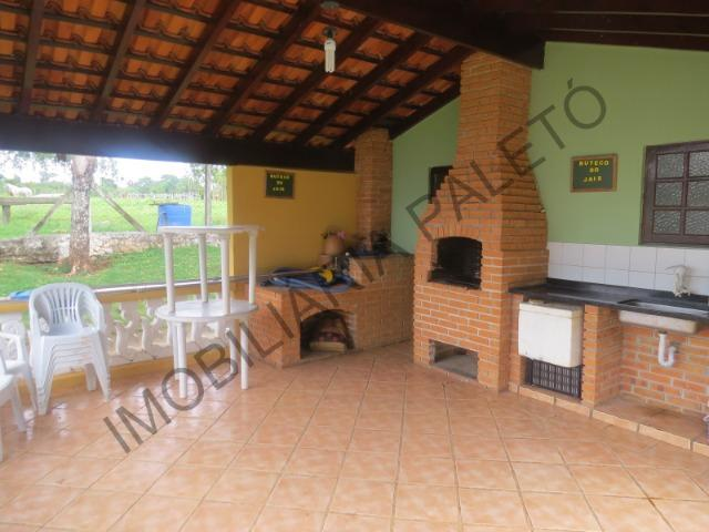 REF 1152 Sítio 4 alqueires, casa sede, piscina, açudes, curral, rio, Imobiliária Paletó - Foto 8