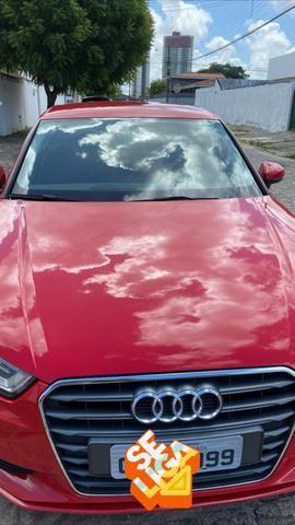 Audi A3 1.4 top de verdade super econômico VERMELHO FERRARI desconto de R$ 6.900 - Foto 2