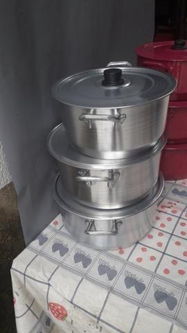 Panela de alumínio 3 peças promoção - Foto 4