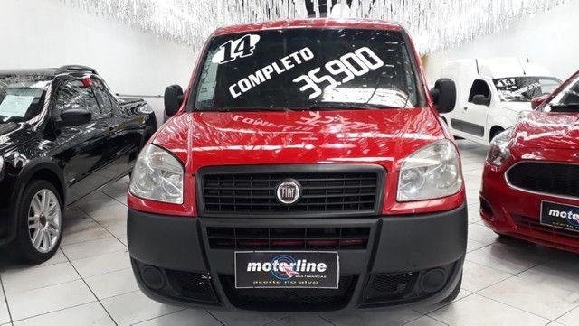Fiat Doblo Cargo 1.4 Flex 2014 Vermelha Ar e Direção Doc OK