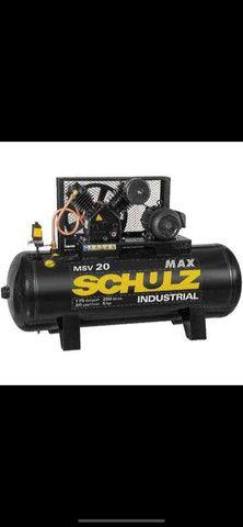 Compressor Schulz Msv 20 Max 250 Lts 175 Lbs 5 Cv Trif.