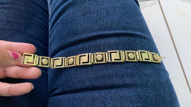Pulseira de ouro Versace - Foto 2