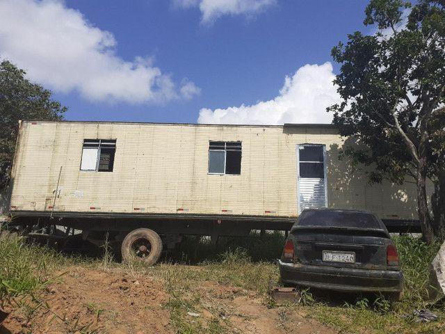 Carreta baú (projeto  casa ou escritório)