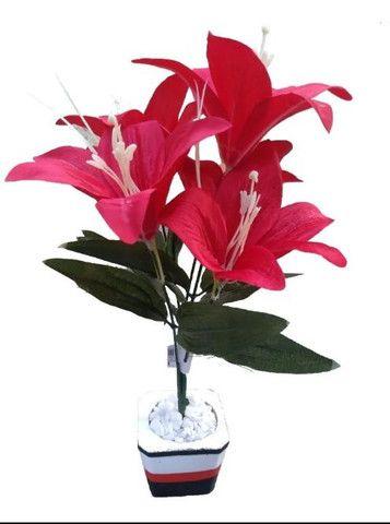 Planta Vermelha Lírio ( Para Decoração ) - Foto 3