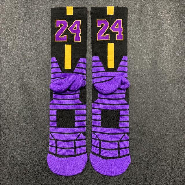 Meias Nike Kobe Bryant Black Mamba Los Angeles Lakers - Foto 3