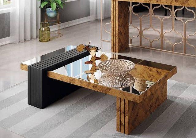 Mesa de Centro Decorativa Espelhada Lara // Entregamos e Montamos  - Foto 4