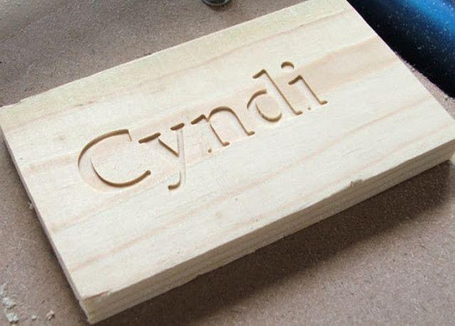Placa de madeira personalizada com seu texto e desenho - Foto 4