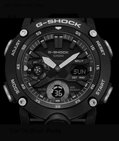 Relógio G-Shock GA-2000S-7ADR Carbon Core Guard nas cores Preto ou Branco<br><br> - Foto 3