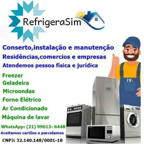 Conserto de geladeira e instalacao de arcondicionado