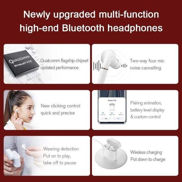 Haylou T19 TWS - Fone Bluetooth 5.0 - aptX - Xiaomi - Android e iOS - Foto 5